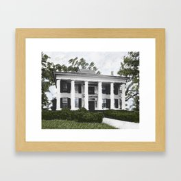 Dodd House - Georgia Plantation  Framed Art Print