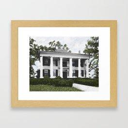 Dodd House - Georgia Plantation  Framed Art Print