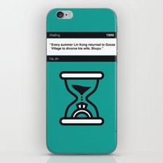 No029 MY Waiting Book Icon poster iPhone & iPod Skin