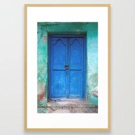Blue Indian Door Framed Art Print