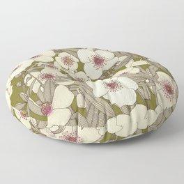pink cloud olive Floor Pillow