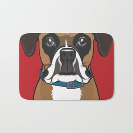 Boxer Art Poster Dog Icon Series by Artist A.Ramos. Designed in Bold Colors. Bath Mat