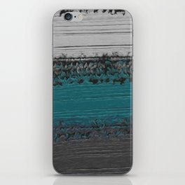 Teal and Gray Abstract iPhone Skin