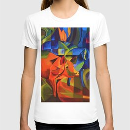 The Pigs by Franz Marc T-shirt