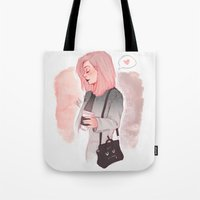 laia Tote Bags featuring Coffee Luv by Laia™