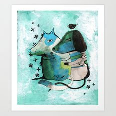 Bartukas friend Art Print