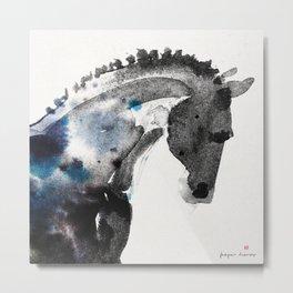 Horse (Trotter Portrait) Metal Print