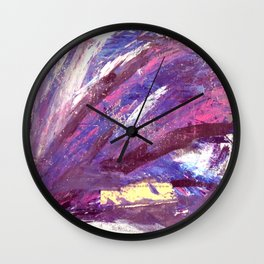 Abstract in Purple and Glitter Wall Clock