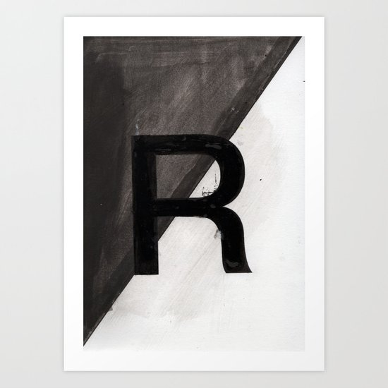 - R - Art Print