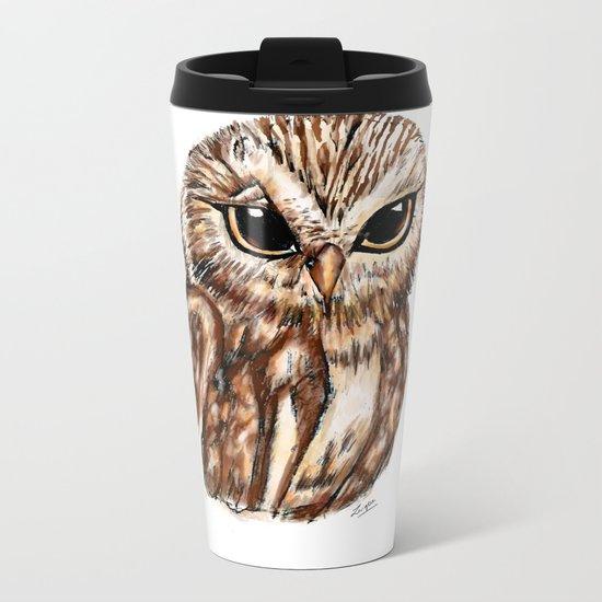 Wise 'Ole Owl Metal Travel Mug