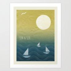 Sun Print - Sun & Sea Art Print