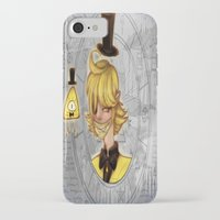bill cipher iPhone & iPod Cases featuring Bill Cipher by InsianCat
