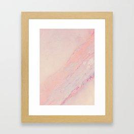 Delicate Pink Marble Framed Art Print