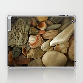 Sea Pebbles With Shells Laptop & iPad Skin