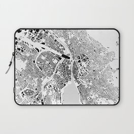 Zurich building city map Laptop Sleeve