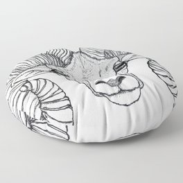 Ram Head Floor Pillow