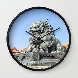 Imperial Guardian Lion, Beijing Wall Clock