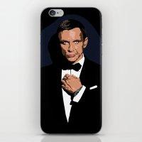 james bond iPhone & iPod Skins featuring 007 JAMES BOND by MATT WARING