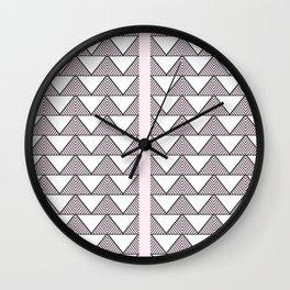 Audrey and Frank - Modern Envelopes Stripe (Pink) Wall Clock