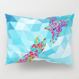New Zealand Map : Square Pillow Sham