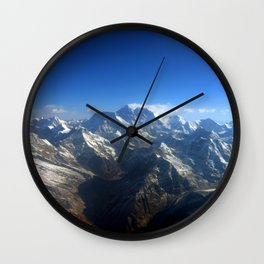 Ocean of Mountains Wall Clock
