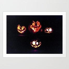 Rotten Pumpkin Heads Art Print