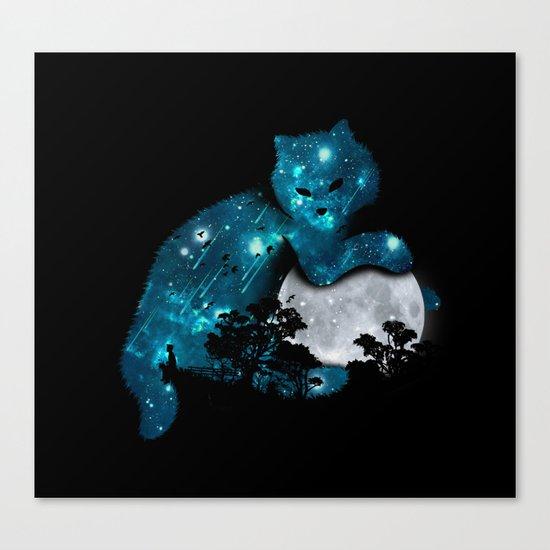 I can haz the moon Canvas Print