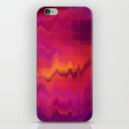 Pink Glitch abstract iPhone Skin