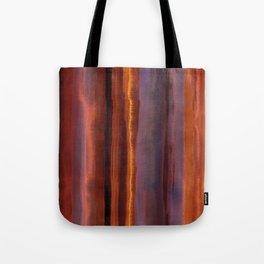 Wildfire Watercolor Stripe Tote Bag