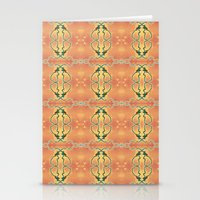 ashton irwin Stationery Cards featuring Syphilis Tapestry by Alhan Irwin by Microbioart