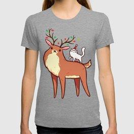 Reindeer and Kitten T-shirt