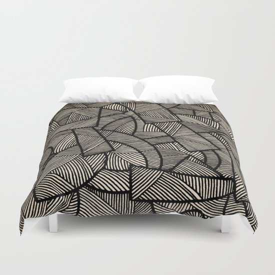 - nude on the grass - Duvet Cover