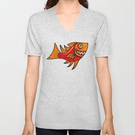 Escher Fish pattern VII Unisex V-Neck