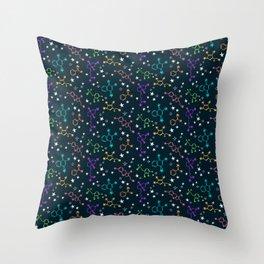 Molecule Galaxy Throw Pillow