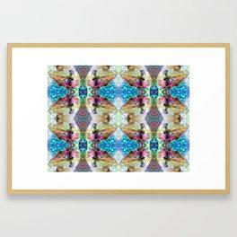 Kyanite Quartz Crystal rAiNbOw Light Mandala - Full Framed Art Print