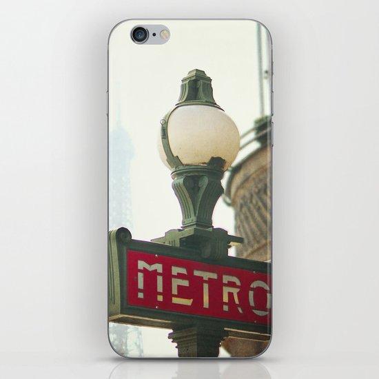 Metro in Paris iPhone & iPod Skin