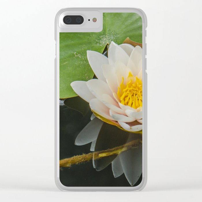 Water Lily Clear iPhone Case