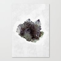 mineral Canvas Prints featuring Mineral by .eg.