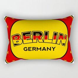 Berlin, circle, red Rectangular Pillow