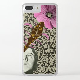 Blooming Eye Clear iPhone Case