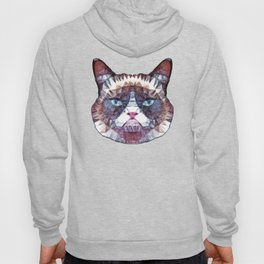abstract grouchy cat Hoody