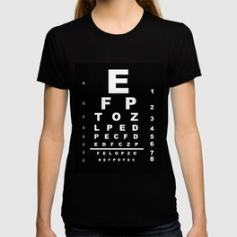 Inverted Eye Test Chart T-shirt