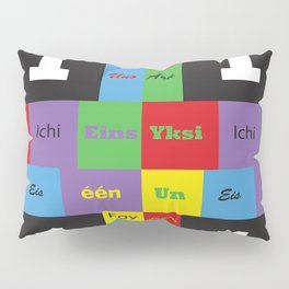 Number One Colorful Many Languages Pillow Sham