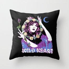 Blame It On My Wild Heart Throw Pillow