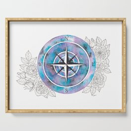 Galaxy Compass Rose Serving Tray