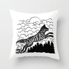 WILD BEAST Throw Pillow