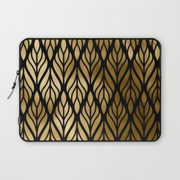 Havana Sultry Night Gold and Black Art Deco Laptop Sleeve