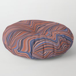 textured stripes (city sunset palette) Floor Pillow