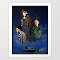 supernatural Art Prints featuring Supernatural by FALema