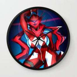 Radical Red Scarf Wall Clock